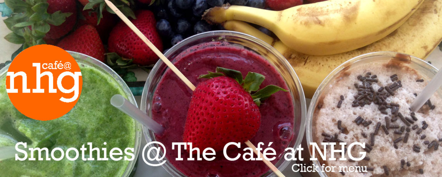 smoothies in The Cafe at NHG