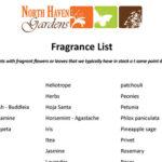 Fragrant Plant List
