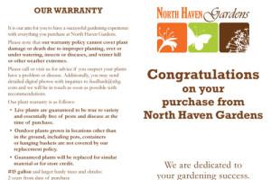 Warranty at North Haven Gardens