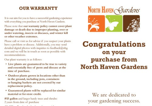 Warranty At North Haven Gardens