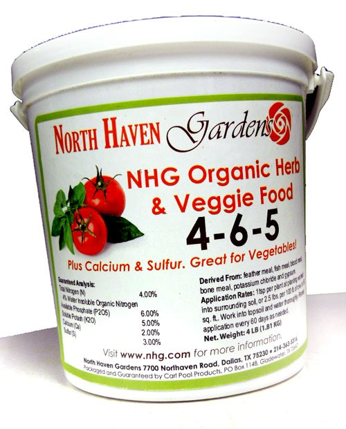 Herb & Veggie Food 4-6-5 at North Haven Gardens