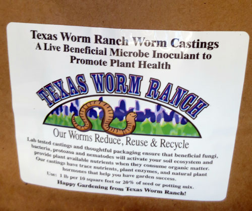 Worm Castings from Texas Worm Ranch at North Haven Gardens