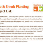 Tree and shrub planting instructions at North Haven Gardens