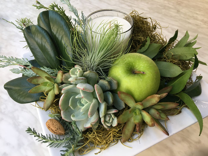Succulent table decoration