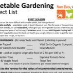 Vegetable Project List